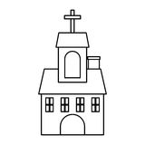 Church building isolated icon vector illustration