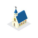 Church building model colorful glass windows Royalty Free Stock Images