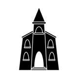 Church building religious christian pictogram stock illustration
