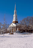 Church building on a snowy morning Royalty Free Stock Photography
