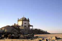 Church built in the beach Royalty Free Stock Image
