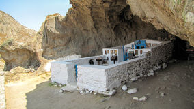 Church built in a cave Stock Photography