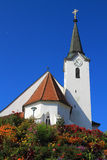 Church built on a hill Stock Photos