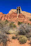 Church built in the Red Rocks Stock Photography