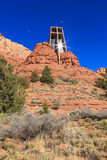 Church built in the Red Rocks Stock Photo