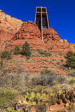 Church built in the Red Rocks Royalty Free Stock Image