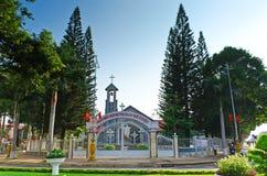 Church Buon Me Thuot. Church of the city center Buon Ma Thuot, Vietnam Stock Photo