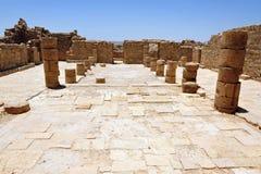 The church of the Byzantian - Shivta Royalty Free Stock Photo