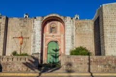 Church in Cabanaconde village stock photos