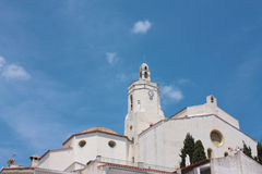 Church of Cadaques. Costa Brava. Spain Royalty Free Stock Images