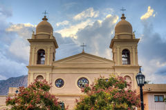 Church in Cafayate in Salta Argentina. Stock Photography