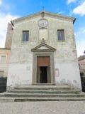 Church in Calcata ss. nome di gesu royalty free stock photo