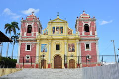 The church of Calvario  in Leon, Nicaragua Royalty Free Stock Photo