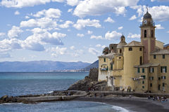 Church of camogli Stock Image