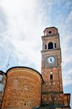 Church of Campagnola Emilia, north of Italy Stock Image
