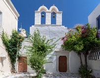 Church Campanary Naousa Paros Island Greece Royalty Free Stock Photo
