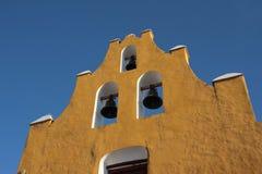 Church in Campeche. Church facade in downtown Campeche Stock Photo