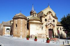 Church, Campillos, Andalusia. Front view of Our Lady of Rest church (Iglesia de Nuestra Senora del Reposo),  Campillos, Malaga Province, Andalusia, Spain Stock Photos