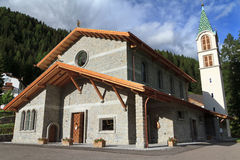 Church in Canazei, Italy Royalty Free Stock Photography