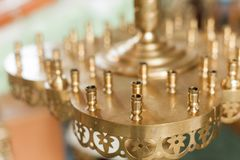 Church candle holder without candels natural window light Royalty Free Stock Photography