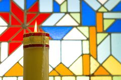 Church candle I Stock Images