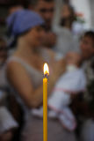 Church candle light Royalty Free Stock Photography