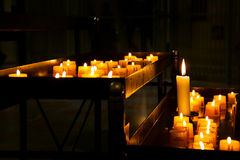 Church candle in a row Stock Image