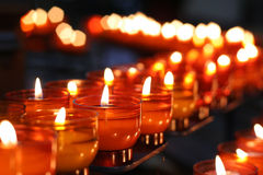 Church Candles 2. Line of burning church candles royalty free stock photos