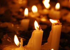 Church Candles. Close up shot Stock Photography