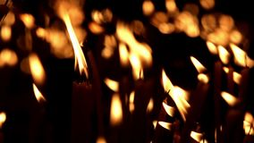 Church candles stock video