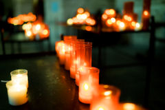 Church candles Royalty Free Stock Images