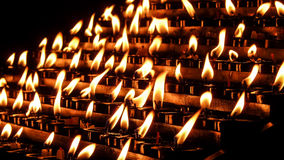 Church candles on a bokeh background Stock Photo