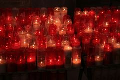 Church candles stock images