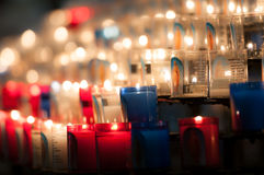 Church candles in dark Royalty Free Stock Images
