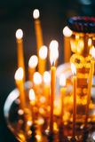 Church candles at dark background Royalty Free Stock Photography