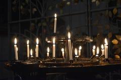 Church. Candles in a church in downtown Munich stock photos