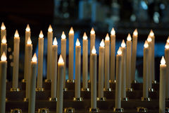 Church candles in Paris Stock Image