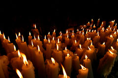 Church candles in Paris Royalty Free Stock Photography