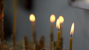 Church candles stock footage