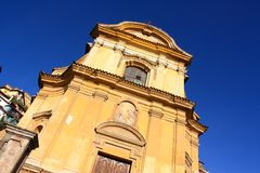 Church in Canelli, Langhe, Piedmont, Italy Stock Photography