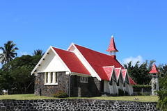 Church in Cap Malheureux, Mauritius island Stock Photography