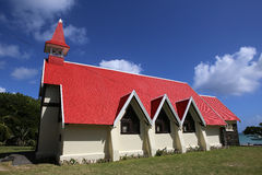 Church in Cap Malheureux, Mauritius island Stock Images