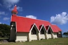 Church in Cap Malheureux, Mauritius island Stock Images