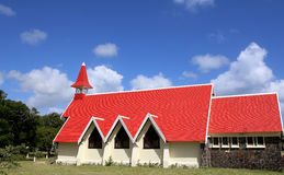 Church in Cap Malheureux, Mauritius island Royalty Free Stock Photos