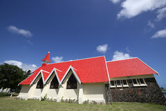 Church in Cap Malheureux, Mauritius island Royalty Free Stock Photography