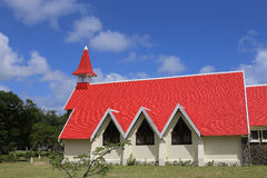 Church in Cap Malheureux, Mauritius island Stock Photos