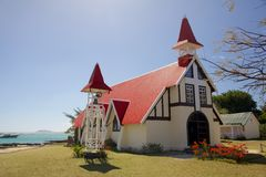 Church in Cap Malheureux, Mauritius Royalty Free Stock Photography