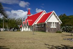 Church in Cap Malheureux, Mauritius Royalty Free Stock Image