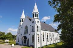 Church in Cape Breton Highlands National Park stock photo