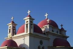 Church in Capernaum stock image